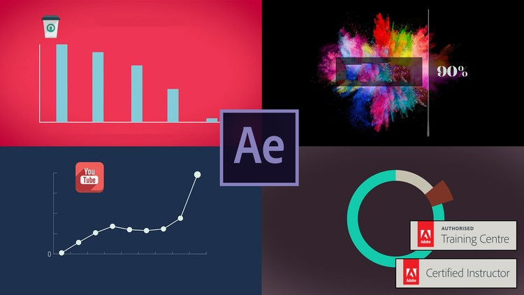 فیلم آموزشی After Effects - Motion Graphics & Data Visualization-Udemy24.ir