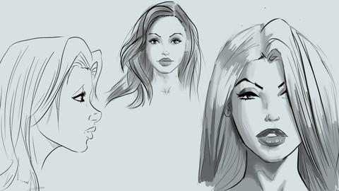 فیلم آموزشی Learn to Draw Pretty Faces for Comic Books-Udemy24.ir